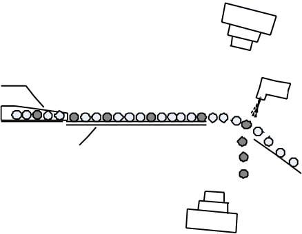 Machine tri optique avec convoyeur vue 2